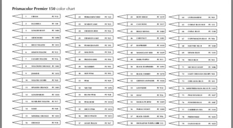 Pin by Sian Jackson on Colored pencils   Color chart, Word