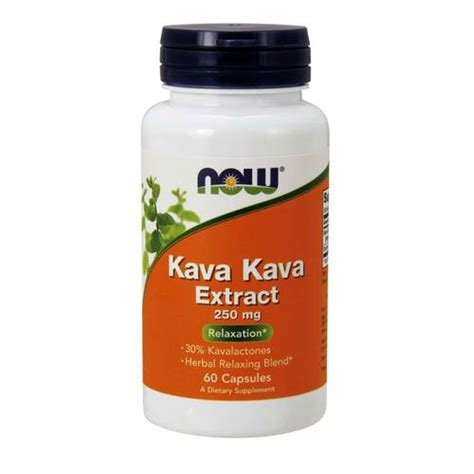Now Foods Kava Kava Extract 250 mg - 60 Capsules