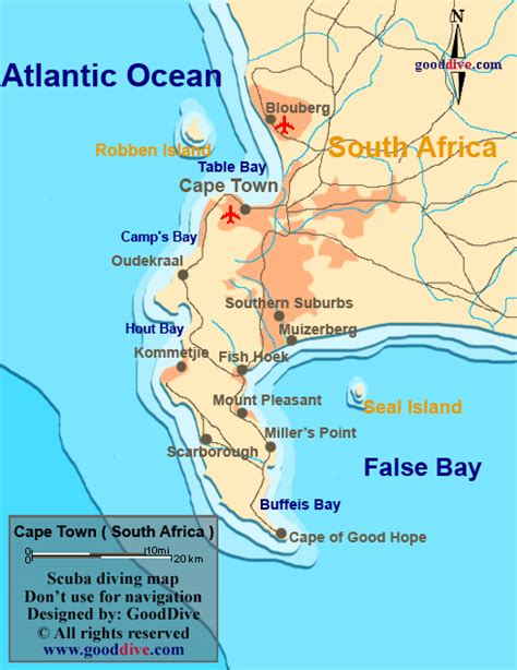 Cape Town Map - Goodive
