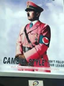 """""""Pink Hitler"""" poster causes offence 