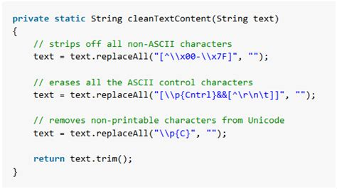 Java - Clean ASCII Text File From Non-printable Characters