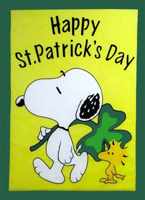 Snoopy And Woodstock St Patrick's Day Quote Pictures