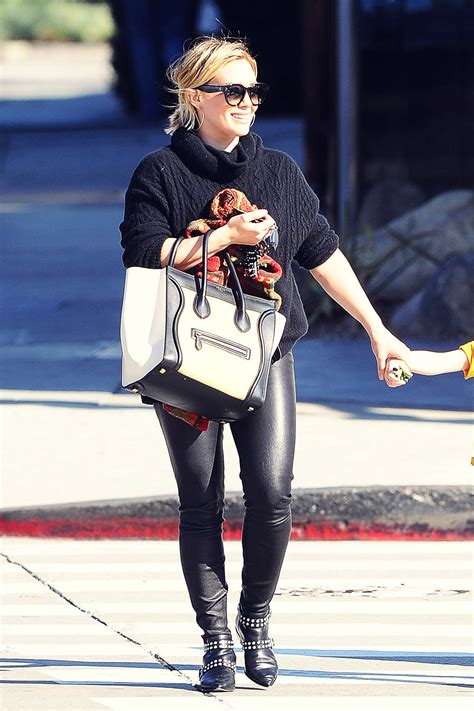 Hilary Duff out in West Hollywood - Leather Celebrities