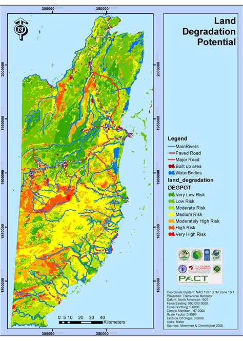 GIS - Spatial Data and maps of Belize